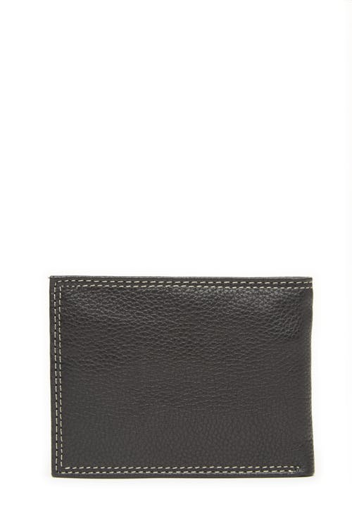 Swissgear 62135 Leather Billfold Wallet with Removable ID Flap Grainy leather