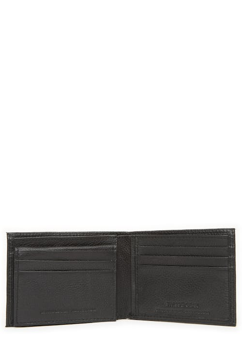 Swissgear 62135 Leather Billfold Wallet with Removable ID Flap 6 card slots