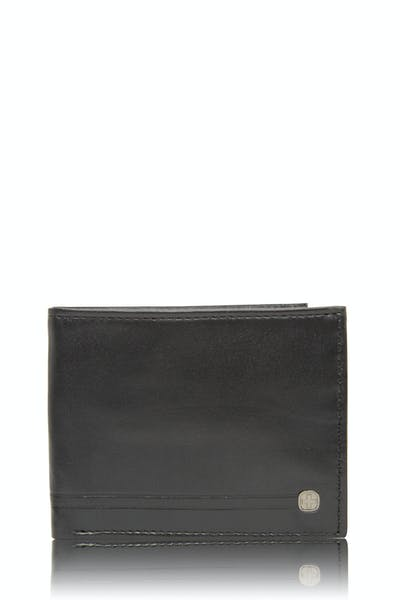 Swissgear 63105 Leather Slim Billfold Wallet - Black