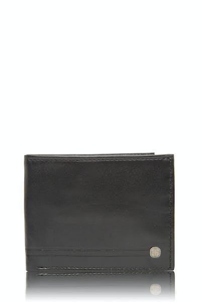 Swissgear 63105 - Portefeuille mince en cuir - Noir