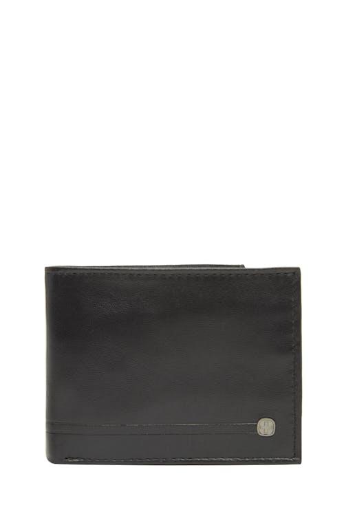 Swissgear 63134 Embossed Double-Strip Billfold Wallet - Black