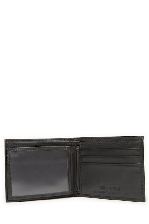 Swissgear 63134 Embossed Double-Strip Billfold Wallet Removeable ID flap
