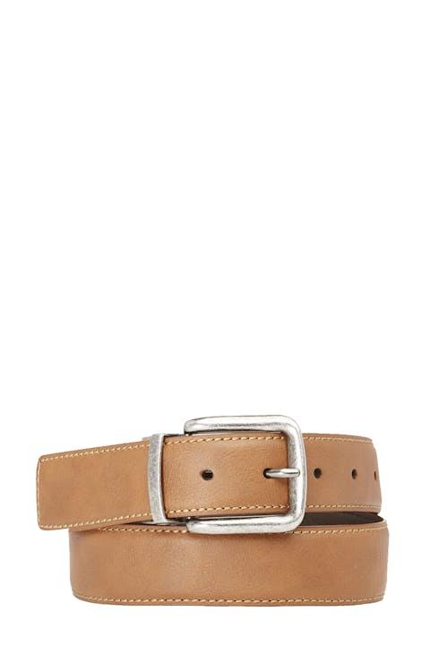 Swissgear Reversible Casual Belt - Tan/Dark Brown