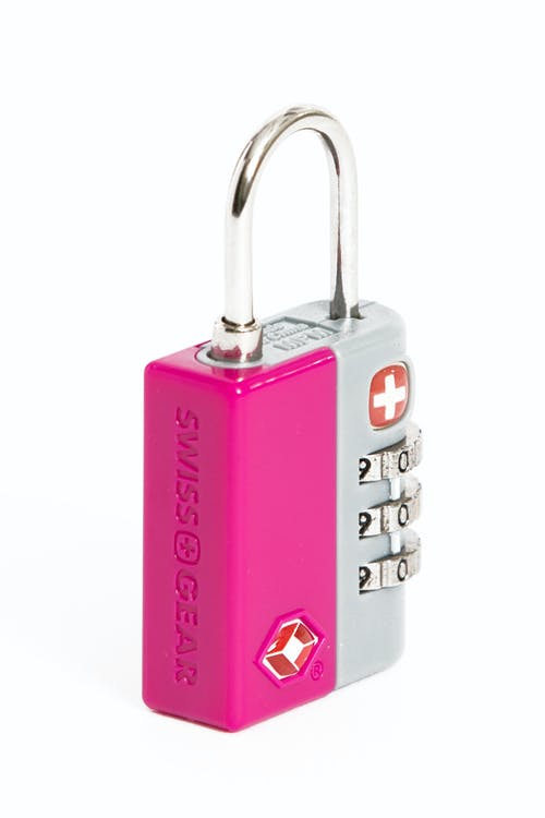 Swissgear Travel Sentry 3-Dial Combination Lock - Pink