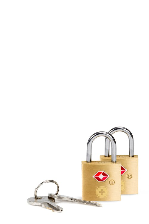 Swissgear Brass Key Lock Twin Pack - Brass